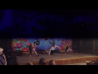Танцы с вожатыми(Сергей Михайлович,Саша,Ника)