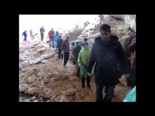 В  Пинежских   пещерах   -   март  2016 г.