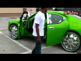 Green Dodge Charger on 28 DUB Presidential Floaters - 1080p HD