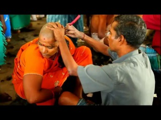 Young indian Women Headshave
