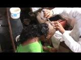 Hot  Green Saree Shaved