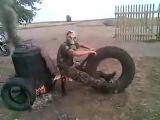 Армейские приколы (самодельный армейский мотоцикл)