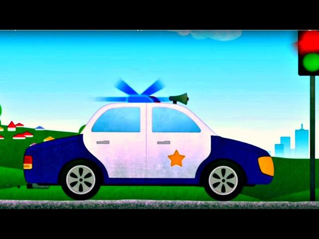 Dessin animé en français pour enfants de différentes types de voitures