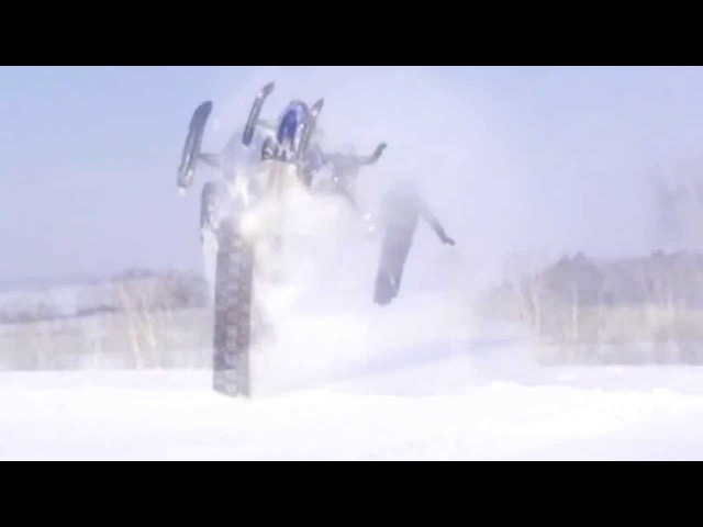 Прикол, супер прыжок на снегоходе ski-doo summit