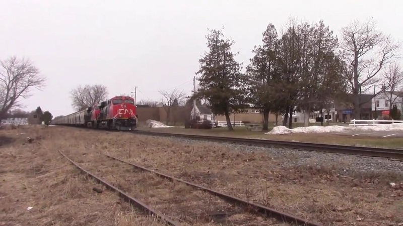 20 000 Tons of Steel and Potash CN Train 730 at Petitcodiac and Sussex Feb 20 2016
