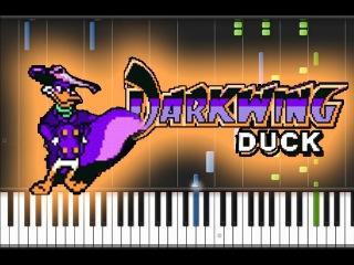 Darkwing Duck NES - Theme Song на пианино (кавер + урок(