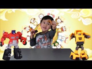 Трансформеры Оптимус Прайм и Бамблби. Обзор от Вовочки. Transformers Optimus Prime and Bamblebee