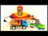 Клоун Дима - Конструктор ЛЕГО и подъемный кран.
