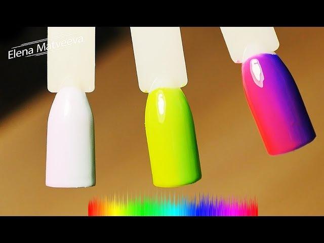 💛🙋🏼 Дизайн ногтей: вертикальный градиент гель-лаками❤️💙