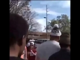 "CamNewton was not happy when a #Bama fan brought up his alleged pay for play. The fan yells out ""180k"" and Cam says…"