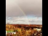 полная радуга в декабре всего две минуты )) 7 декабря 2015 Измайловский парк