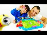 Видео для детей: Папа Роб и Ярик! Игры Футбол. Футбол на двоих!