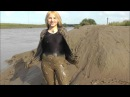 Felicity the Catsuit Mud Angel Fully clothed mudlarking in spandex the trailer