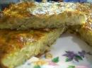 Пирог запеканка из тертого картофеля с сыром и чесноком