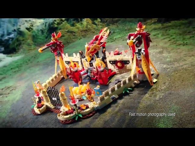 Лего Легенды Чимы. Огненный летающий храм Фениксов. Lego Legends of Chima