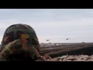 Атака пари Мі-24 на полігоні Широкий Лан. Ukrainian army Mi24 in actoin