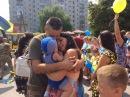 Павлоград встречал дембелей из зоны АТО