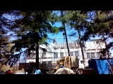 Разгрузка алюминиевых панелей в Гурзуфе