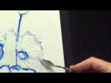 Flower Painting ,#2 | Applying, Modeling Paste ,Acrylic painting for beginners, #clive5art