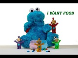 Teletubbie Teletubby Feeding The Monkey eating M&Ms Cookie Monster veggie monster parody