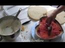 Оформление торта сердце с пломбирным кремом и кремом БЗК