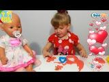 ✔ Кукла Беби Борн. Девочка Ника делает сувениры для друзей / Видео для детей / Baby Born Doll ✔