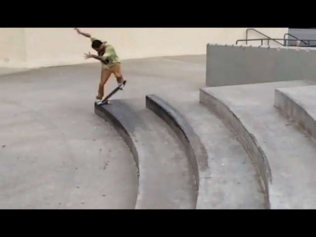 Fs Tailside to Switch Bs NOSEBLUNT!?!! - WTF! - Brent Strittmater