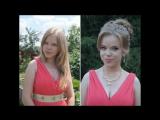 Прическа и макияж на выпускной племяшке )))