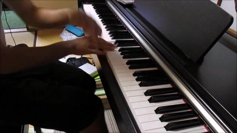 極黒のブリュンヒルデop BRYNHILDR IN THE DARKNESSを弾いてみた ピアノ
