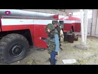 НовороссияТВ: Позиция Пожарная вышка. Аэропорт (15.11.2014)