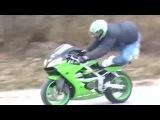 Трюк на мотоцикле не удался