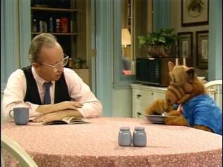 Alf eating