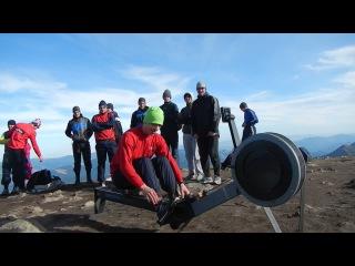 Украинские гребцы крутят эргометр Conсept 2 на высоте 2061 м г. Говерла!
