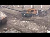 Углегорск: буксировка танка ДНР и уничтоженная техника ВСУ