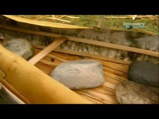 Искусство выживания Рэя Мирса - Каноэ из бересты.