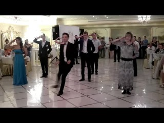 Наш флэшмоб на свадьбе Заура и Александры-1