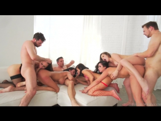 JulesJordan.com: Adriana Chechik, Aidra Fox, Dani Daniels, James Deen, Karlee Grey, Peta Jensen - Orgy Masters Sex Par (
