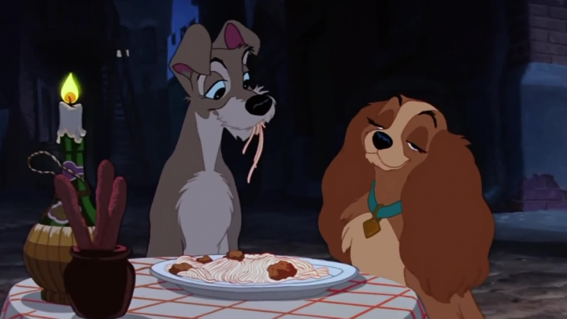 Леди и Бродяга КЛИП Lady And The Tramp Bella Notte famous spaghetti scene