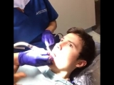 Когда стоматолог пытается говорить с тобой. ( 6 сек )