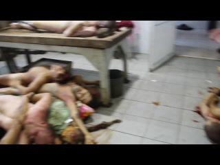 ВНИМАНИЕ! ВИДЕО СТРОГО 18+ Донецкий морг переполнен трупами 18+ (English) Donetsk Morgue, October 8th