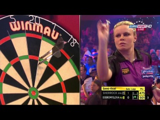 Anastasia Dobromyslova vs Fallon Sherrock (BDO World Darts Championship 2015 / Semi Final)
