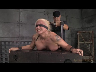 Sexually Broken: Tan Busty Blonde Leya Falcon Bound And Bent Over, Rough Blindfolded Sex And Brutal Deepthroat!