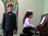 Горянская Виктория, 10 лет, Березин Михаил, 8 лет. Муз. Рыбкина, сл.   Белова