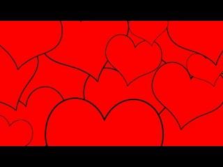 Футаж с сердечками от группы YouTube Embellish