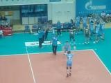 Волейбол Зенит Казань-Локомотив Новосибирск,представление стартовых шестерок команд