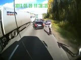 ДПС! Дальнобойщики наказали рэкетиров Truckers punished racketeers ппц 1