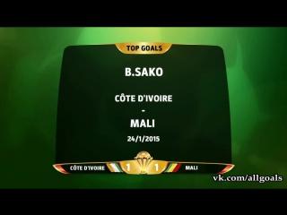 Кубок Африки 2015 / Лучшие голы / Топ-5 [HD 720p]