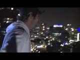 На bmx по наклонной крыше небоскреба!