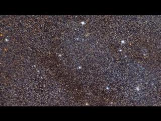 Галактика Андромеды через Космический телескоп Хаббл, Hubble, Andromeda