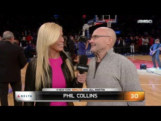 Phil Collins at New York Knicks vs Detroit Pistons (NBA)